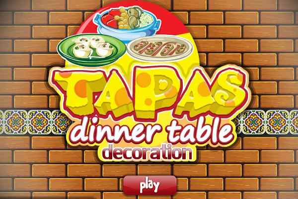 Play Tapas Dinner Table Decoration