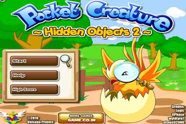 Play Pocket Creature Hidden Objects 2