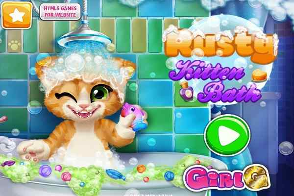 Play Rusty Kitten Bath