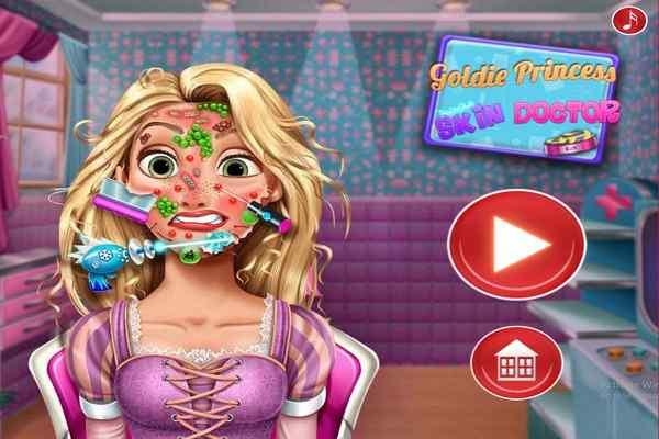 Play Goldie Princess Skin Doctor