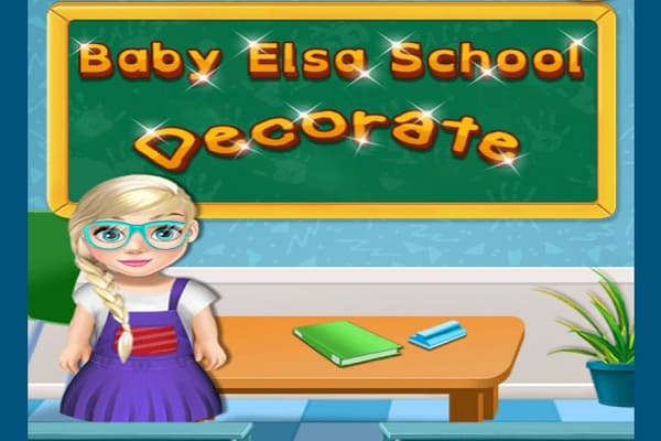 Play Baby Elsa School Decorate