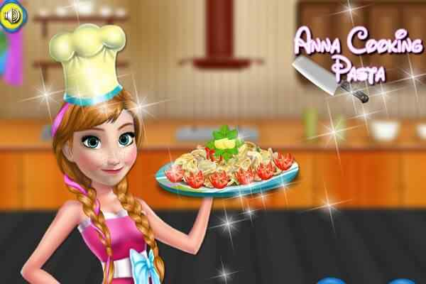 Play Anna Cooking Pasta